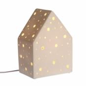 Häuschen-Lampe, weiss, klein