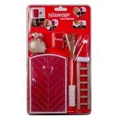 1. Wichteltür-Set Rot mit Herz 6 Teile / ab 6.12.19 wieder verfügbar
