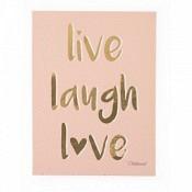 Ölgemälde Live Laugh Love 30x40