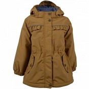 Girls Jacket Solid - golden Brown