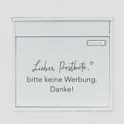 Sticker: Bitte keine Werbung schwarz