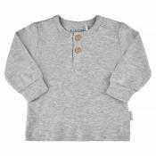 Blouse LS - Unisex Organic - grey melange